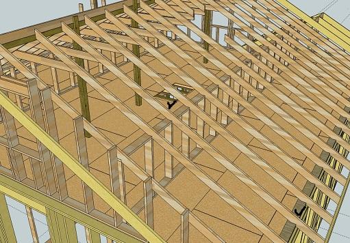 Проектирование каркасного дома в SketchUp