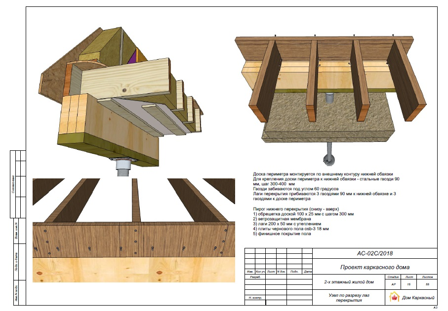 Пример проекта каркасного дома