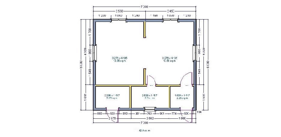 Планировки 6х7м