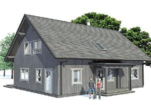 Проект каркасного дома Истад