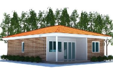 Проект одноэтажного каркасного дома Тронхейм